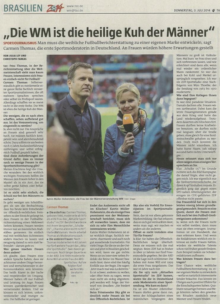 taz.de - WM heilige Kuh der Maenner - 03.07.2014