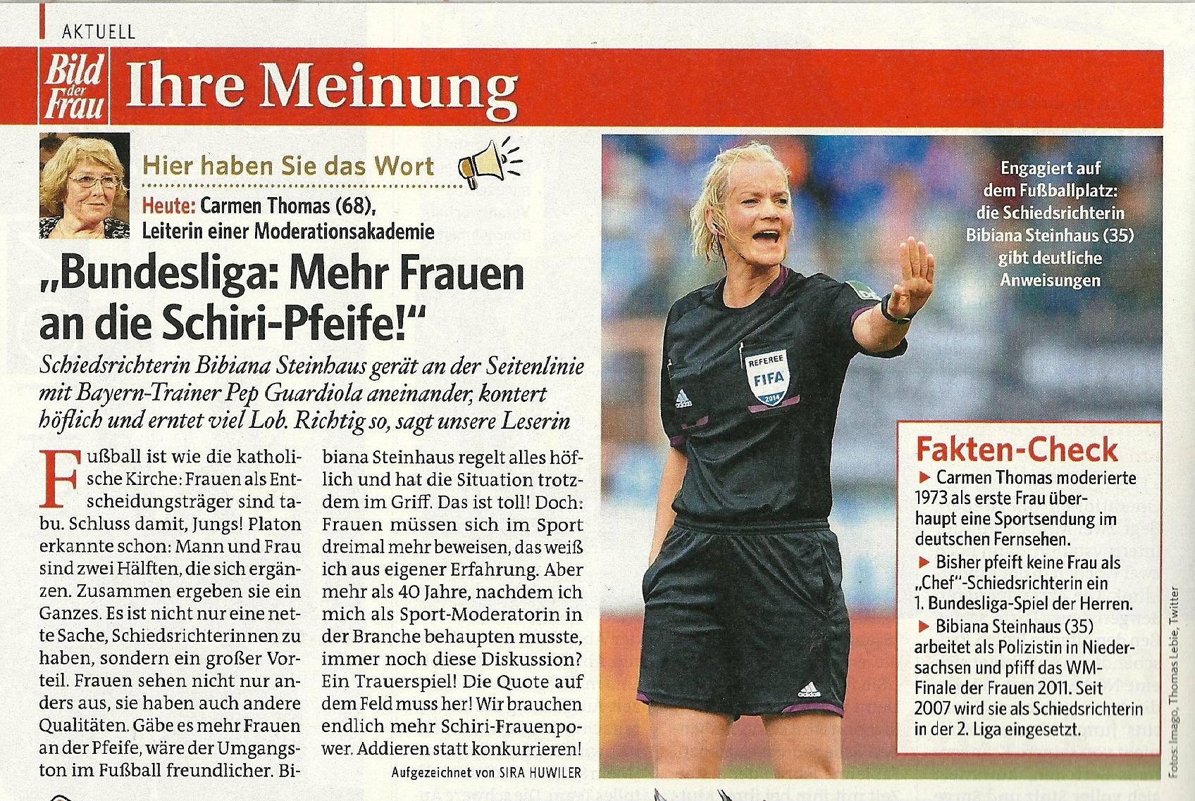 Art Bild der Frau - Frauen an die Schiri-Pfeife     Heft 46 - 07.11.14